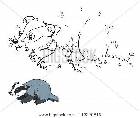 Numbers Game For Children (badger)