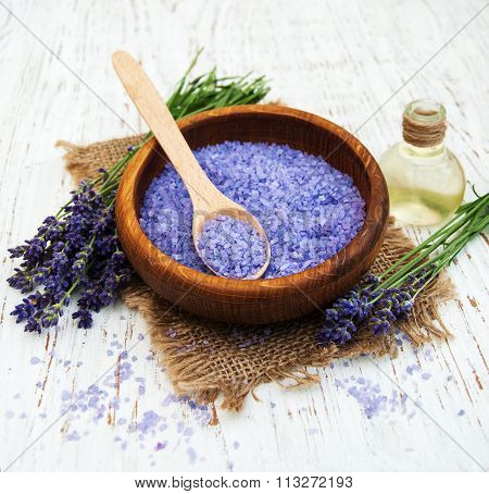 Lavender Oil With Bath Salt