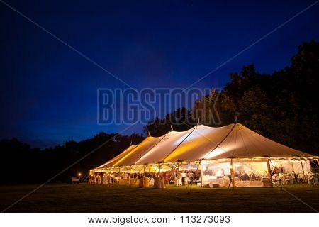Event Tent At Night