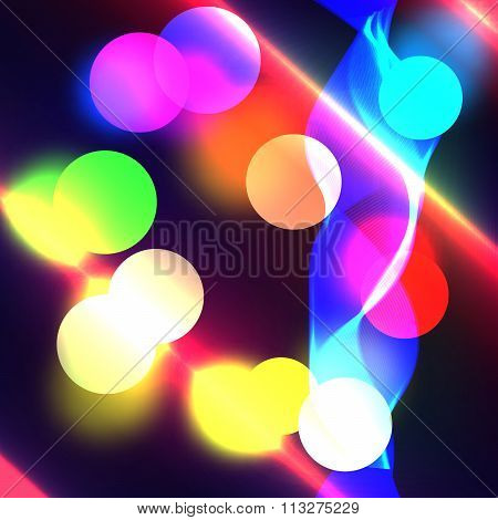 Vector illustration color boke background