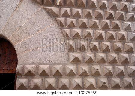 Detail Of Casa De Los Picos, Segovia, Castilla Y Leon, Spain