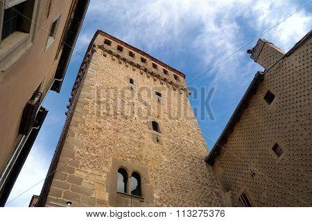 Tower Of Torreon De Lozoya, Segovia, Castilla Y Leon, Spain