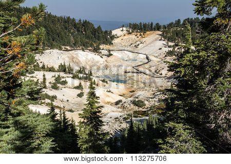 Bumpass hell at lassen volcanic national park, California