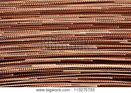 Abstract Golden Lines On Brown Background