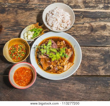 Thai Style Pork Leg Pot Stewed
