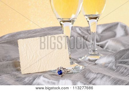Festive Background With Champagne