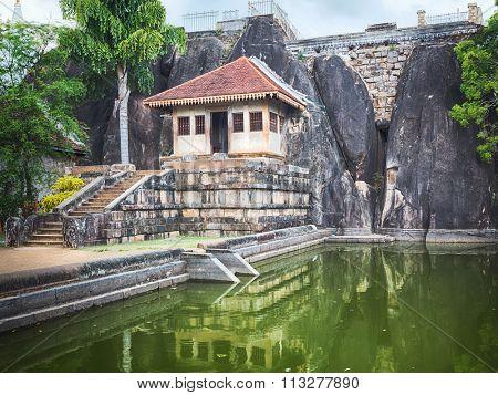 Isurumuniya Viharaya in the sacred world heritage city of Anuradhapura, Sri Lanka.