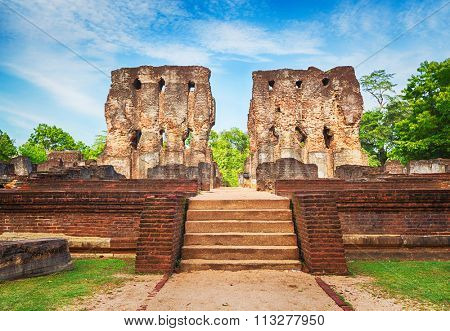 Royal Palace of King Parakramabahu in the world heritage city Polonnaruwa, Sri Lanka.