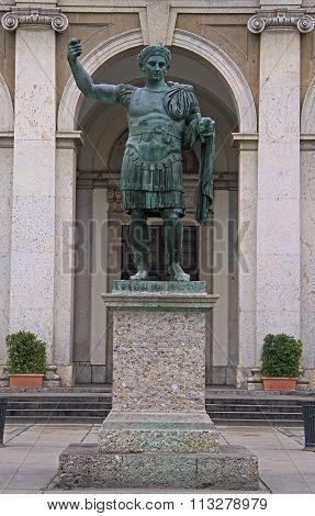 statue of Constantine in Milan