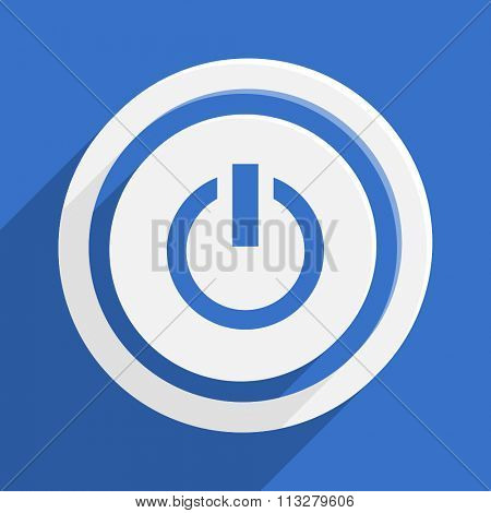 power blue flat design modern vector icon for web and mobile app