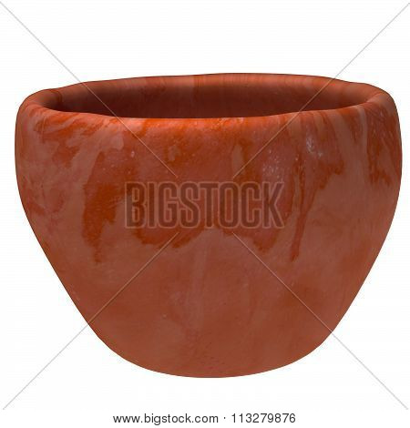 Empty terracotta flower pot