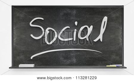 Social written on blackboard