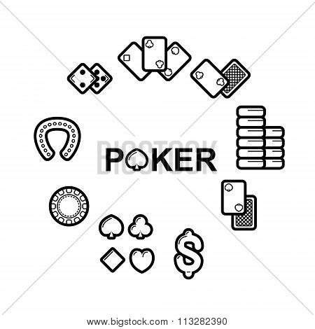 Vector set of casino icons