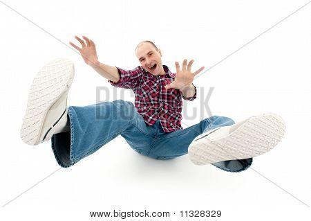 Falling Young Man