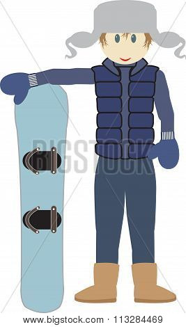 A Guy With A Snowboard
