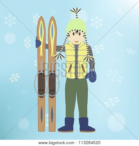 Man With Skis