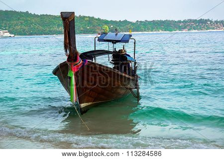 Beautiful colorful typical wooden boat