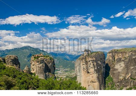 Mountain Monastery of the Holy Trinity Meteora Greece