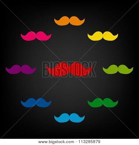 Set of moustaches icon
