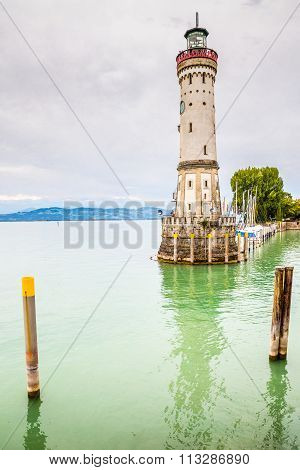 View Of Lighthouse-lindau,lake Constance,germany