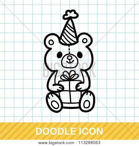 Birthday Bear Doodle