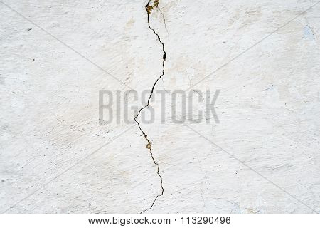 Cracked Whitewashed Wall
