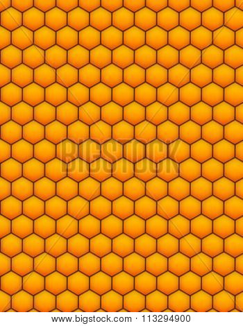 Honey comb realistic pattern.