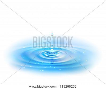 Water Drop. Vector Illustration, Eps10.