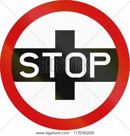 Regulatory Road Sign In Zimbabwe - Stop