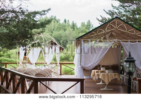 The Site For The Wedding Ceremony.