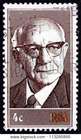 Postage Stamp South Africa 1975 President Nicolaes Diederichs