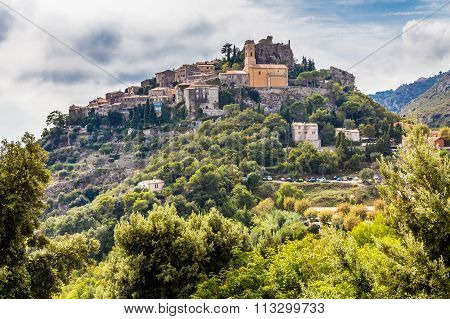 Beautiful View of Medieval Village of Eze Located on The Hill-EzeFrance