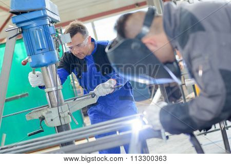 welders at work