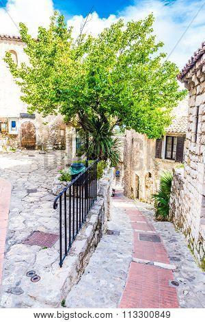Narrow Street Of Historical Village-eze, France