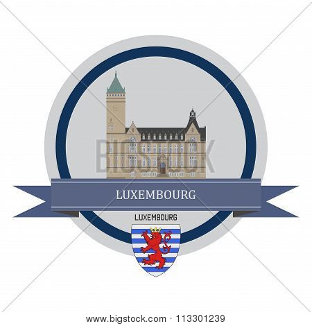 Luxembourg Ribbon Banner