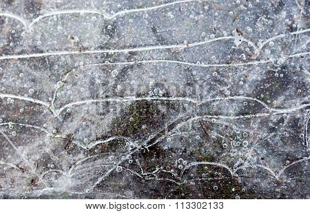 Cracked Ice Surface