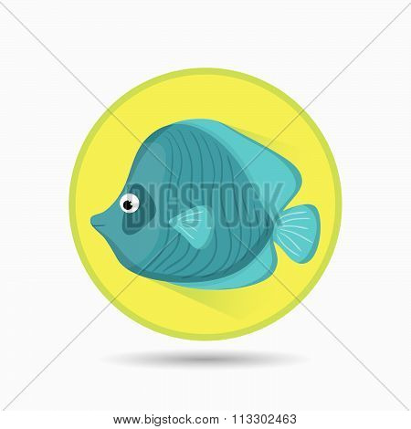 Sea fauna cartoon