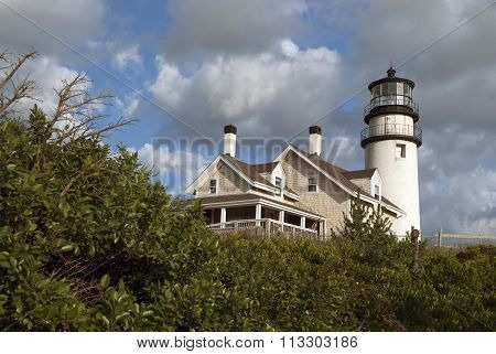 Historic Highland Light on Cape Cod