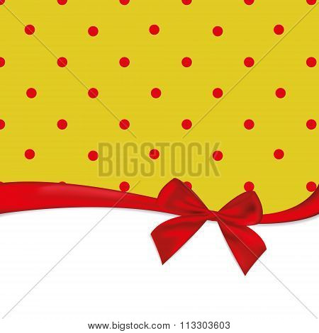 Yellow Background In Red Peas