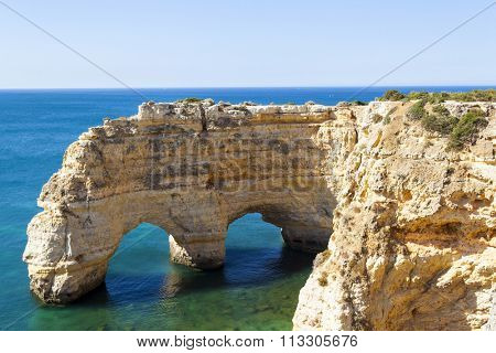 Cliffs at the beach praia da Marinha, Lagoa, Algarve