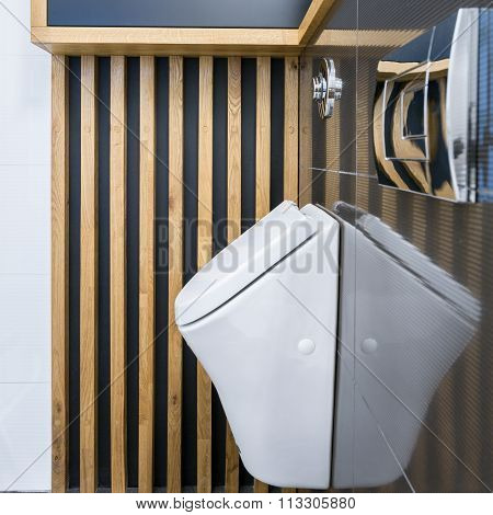 Toilet interior with urinal