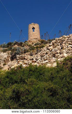 Atalaya, Watchtower, Nijar, Almeria Province, Andalucia, Spain