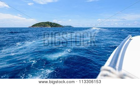 Travel By Speed Boat On The Sea