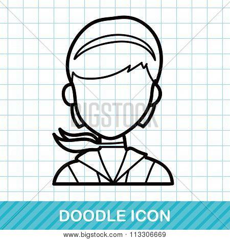 Flight Attendant Doodle
