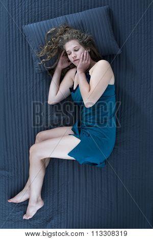 Sleeping Woman In Nightgown