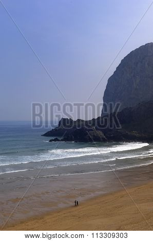Laga Beach And Cape Ogoño, (urdaibai Biosphere), Vizcaya, Basque Country, Spain