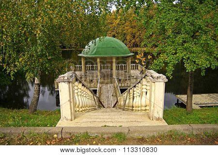 Decorative Pavilion On The Pond.
