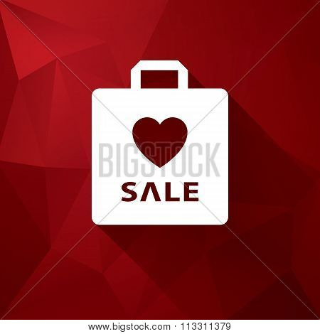 Valentine's day sales vector illustration suitable for advertising or as a web element, etc. Low pol