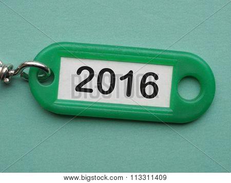 Green Keyring Year 2016
