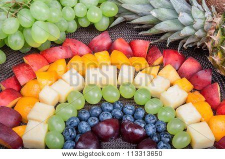 Fun Food. Fruit Rainbow